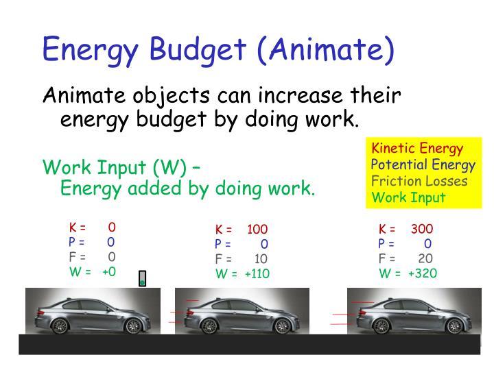 Energy Budget (Animate)
