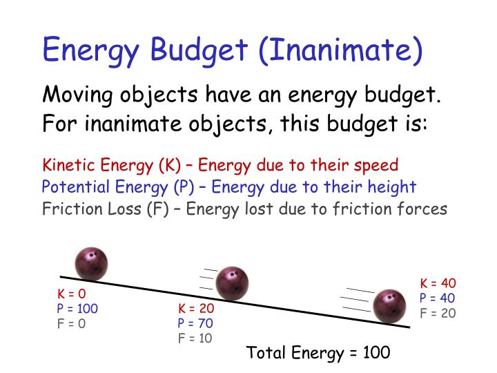 Energy Budget (Inanimate)