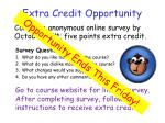 extra credit opportunity1