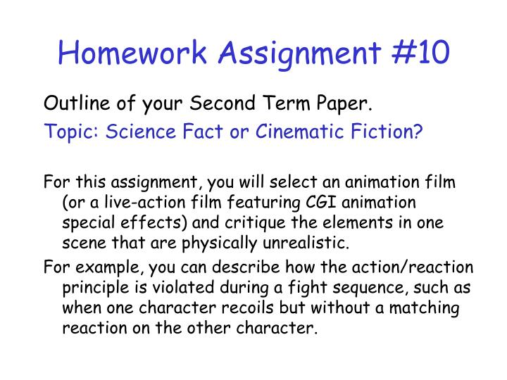 Homework Assignment #10