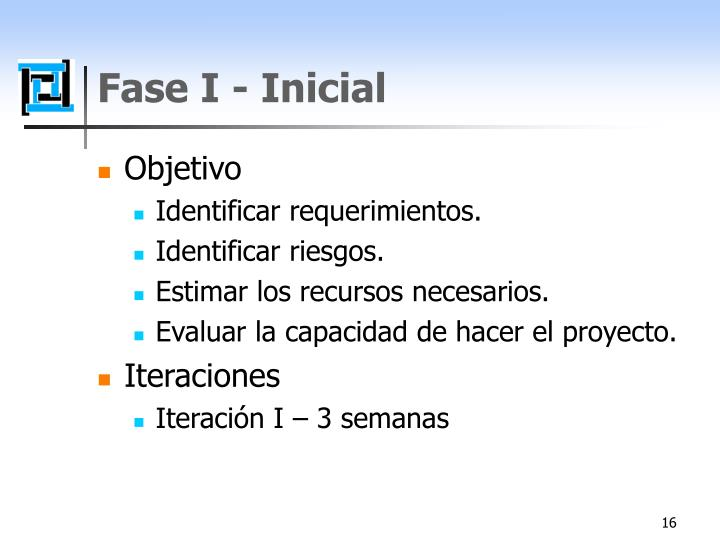 Fase I - Inicial