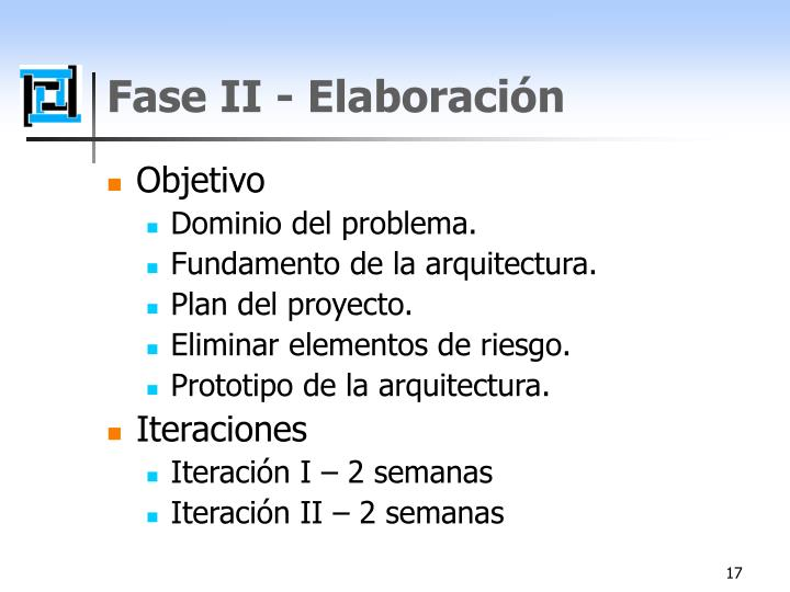 Fase II - Elaboración