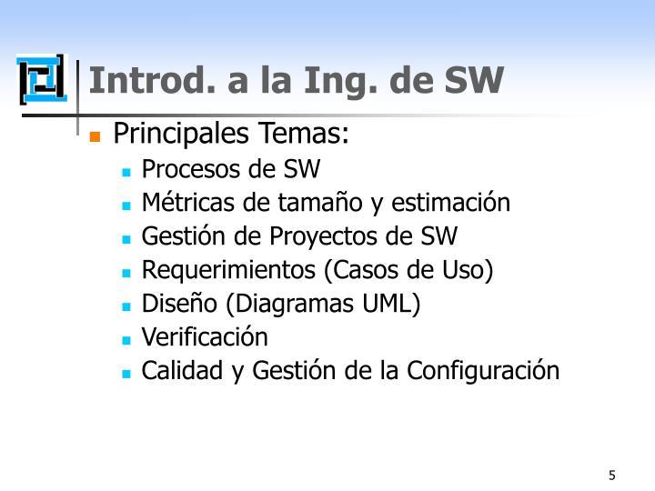 Introd. a la Ing. de SW
