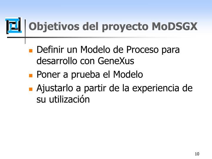 Objetivos del proyecto MoDSGX