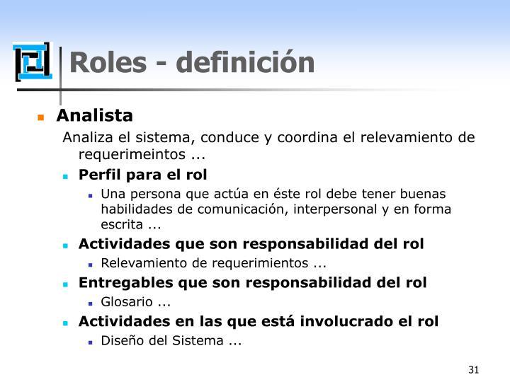Roles - definición