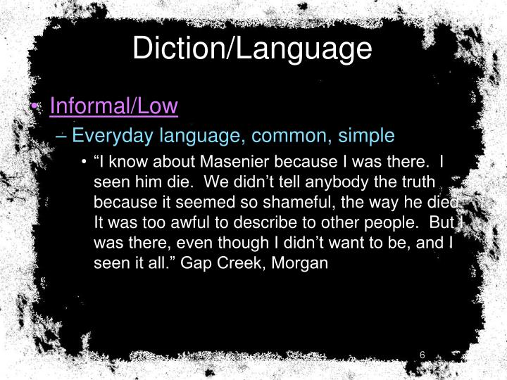 Diction/Language