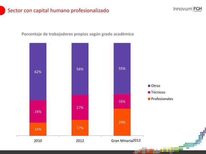 Sector con capital humano profesionalizado
