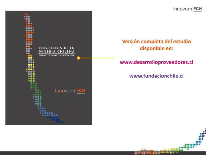 Versión completa del estudio disponible en: