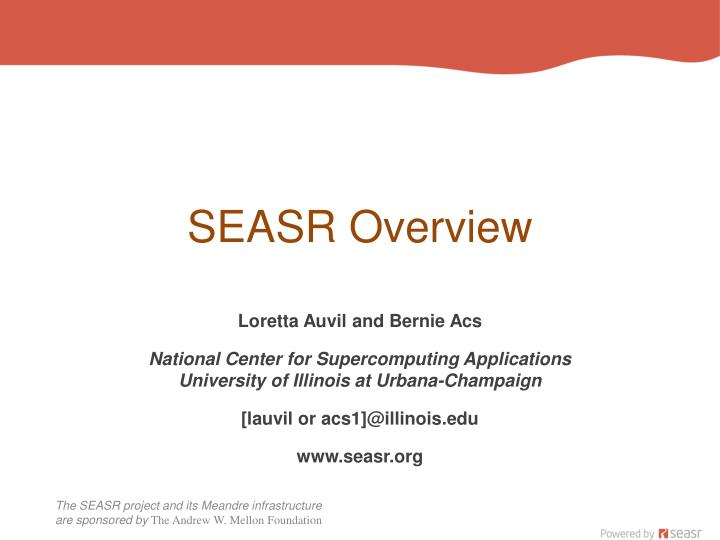 SEASR Overview
