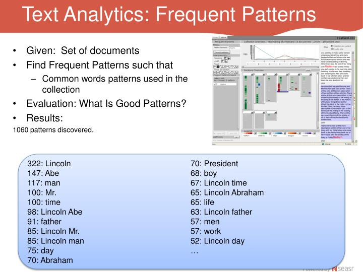 Text Analytics: Frequent Patterns