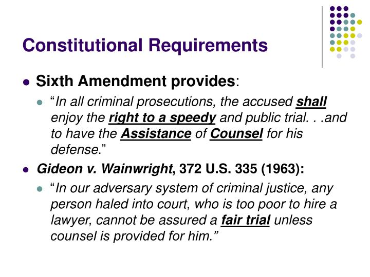 Constitutional Requirements