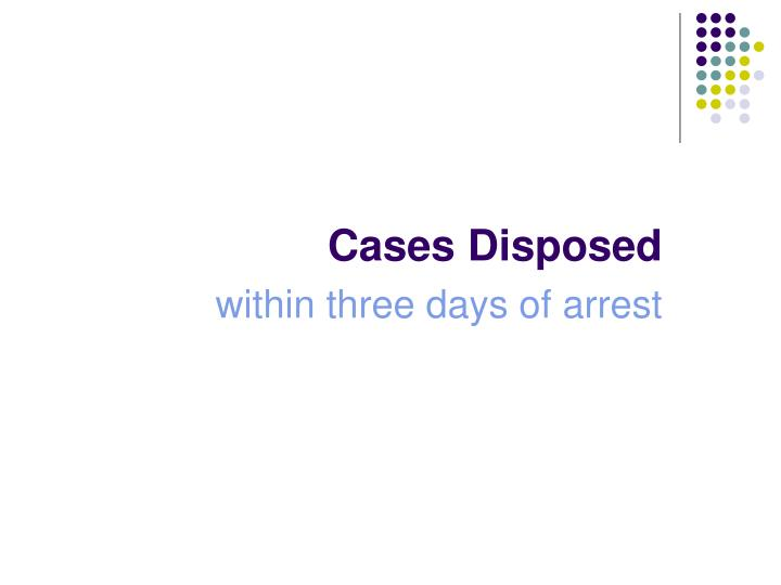 Cases Disposed