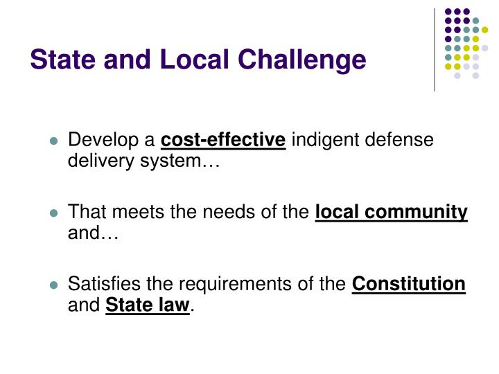 State and Local Challenge