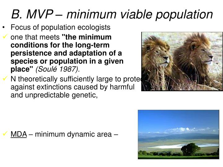 B. MVP – minimum viable population
