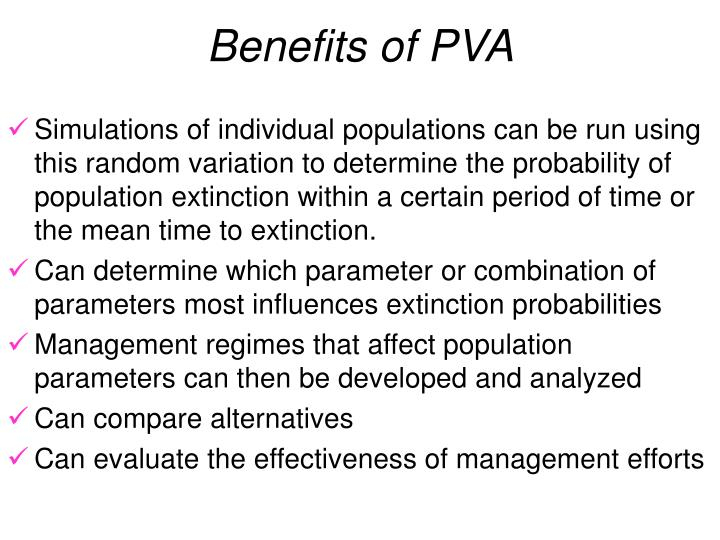 Benefits of PVA