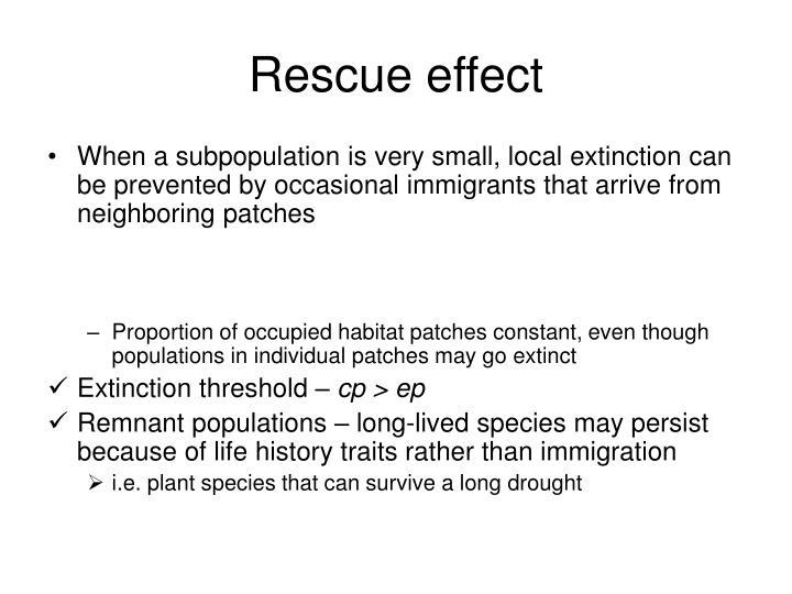 Rescue effect