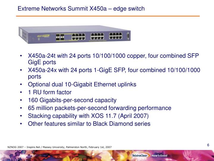 Extreme Networks Summit X450a – edge switch
