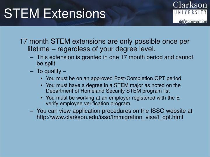 STEM Extensions