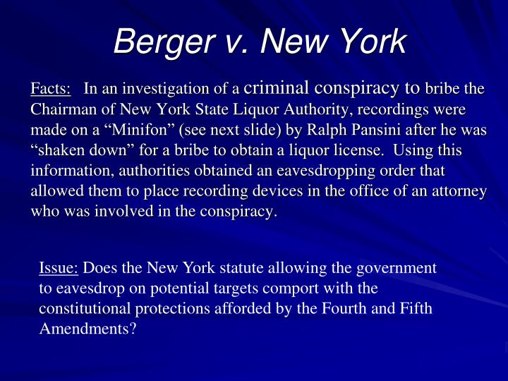Berger v. New York