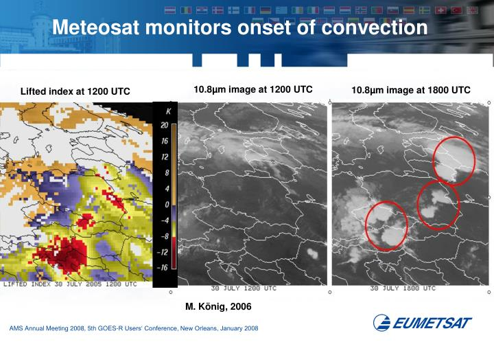 Meteosat monitors onset of convection