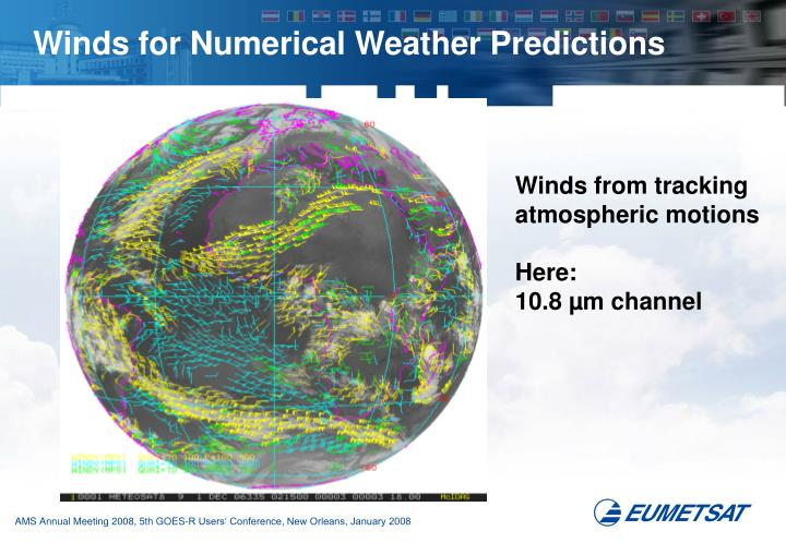 Winds for Numerical Weather Predictions