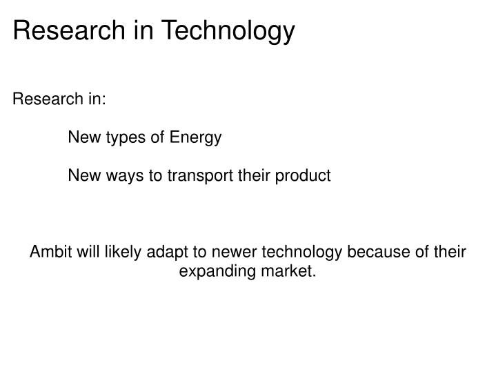 Research in Technology