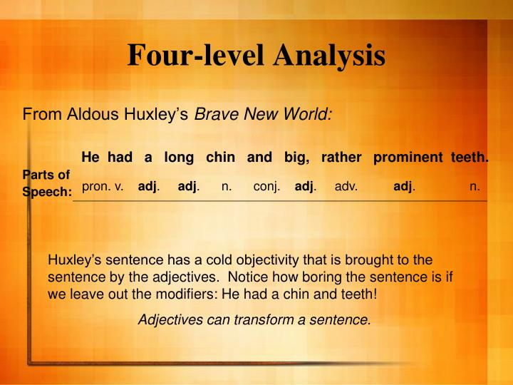 Four-level Analysis