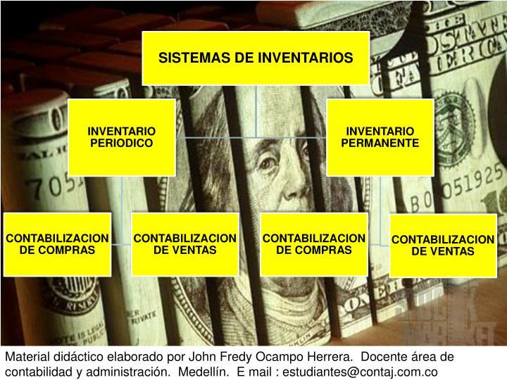 Material didáctico elaborado por John Fredy Ocampo Herrera.  Docente área de contabilidad y administración.  Medellín.  E mail : estudiantes@contaj.com.co