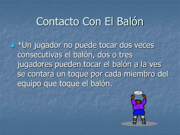 Contacto Con El Balón