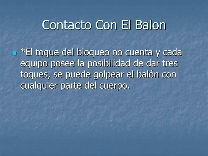 Contacto Con El