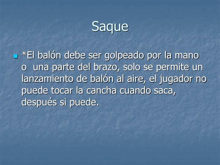 Saque