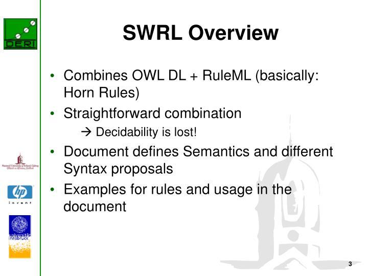 SWRL Overview