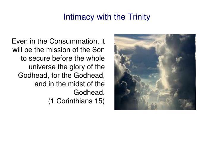Intimacy with the Trinity