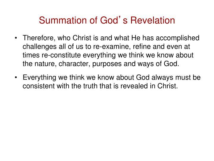 Summation of God