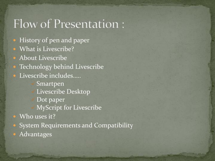 Flow of Presentation :