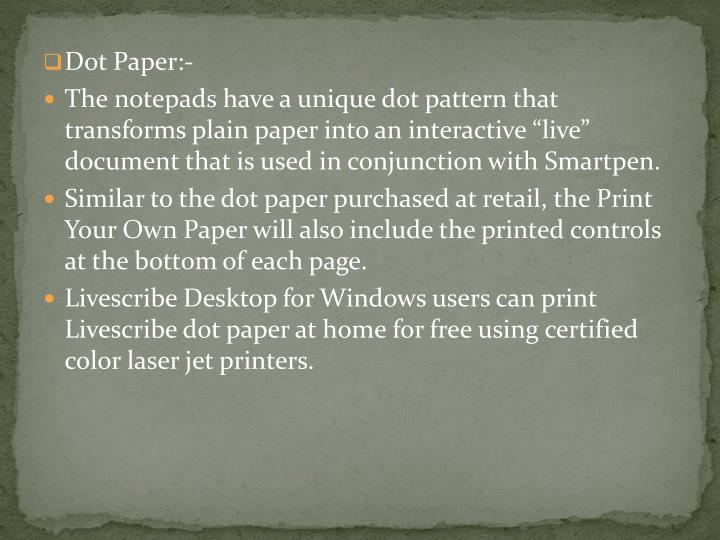 Dot Paper:-