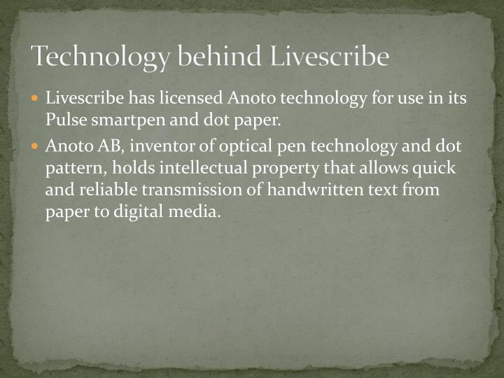 Technology behind Livescribe