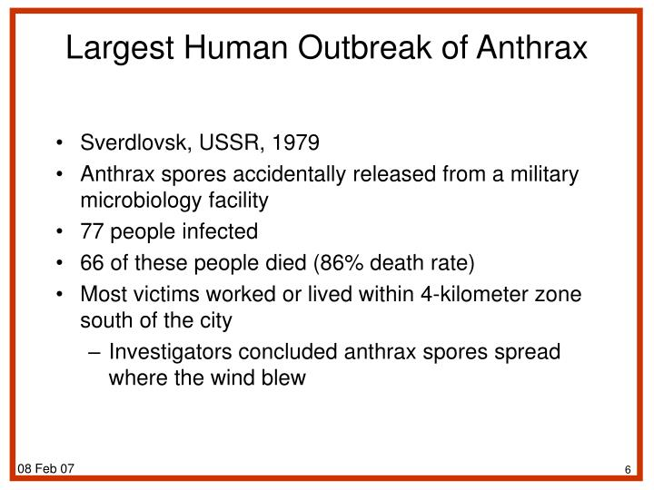 Largest Human Outbreak of Anthrax