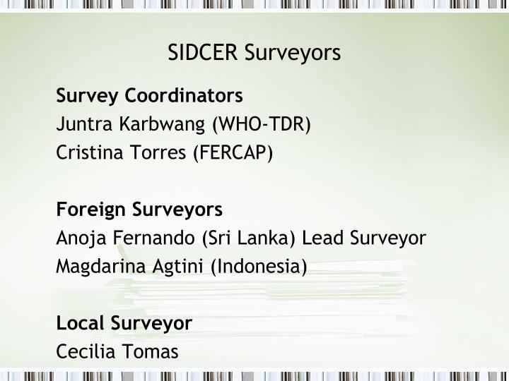 SIDCER Surveyors