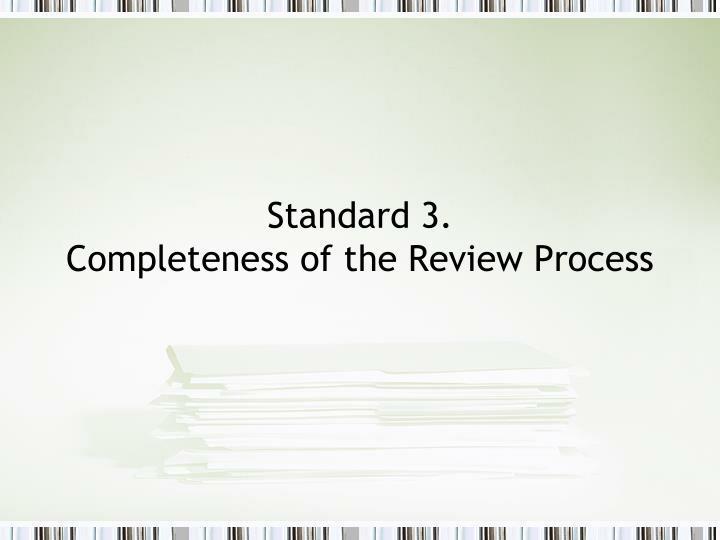 Standard 3.