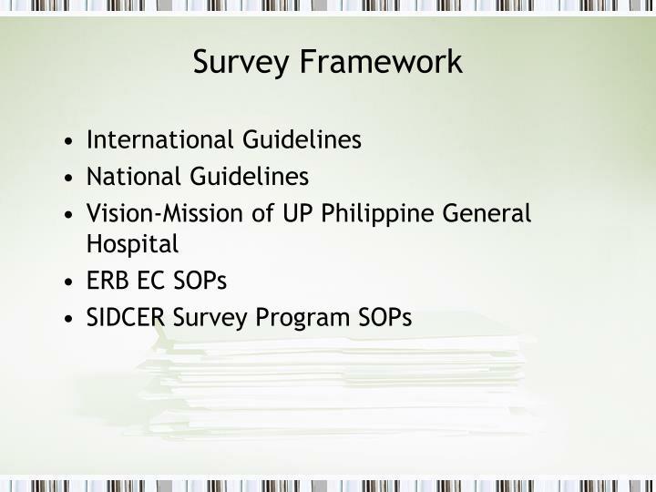 Survey Framework