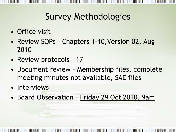 Survey Methodologies