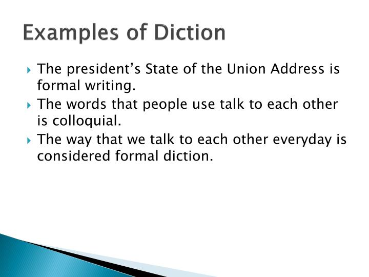 Examples Of Diction In Literature PPT - Diction, ...