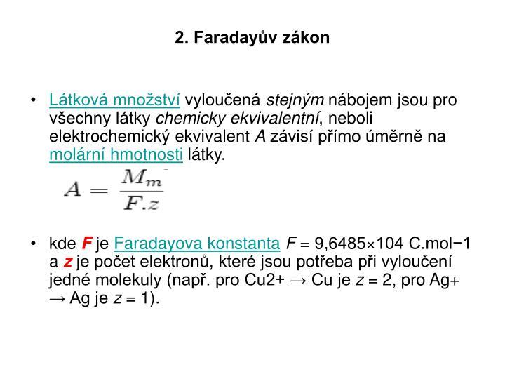 2. Faradayův zákon