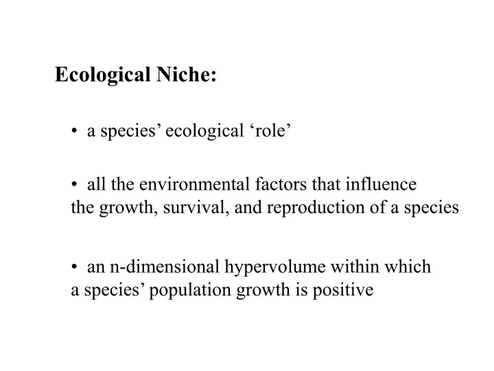 Ecological Niche: