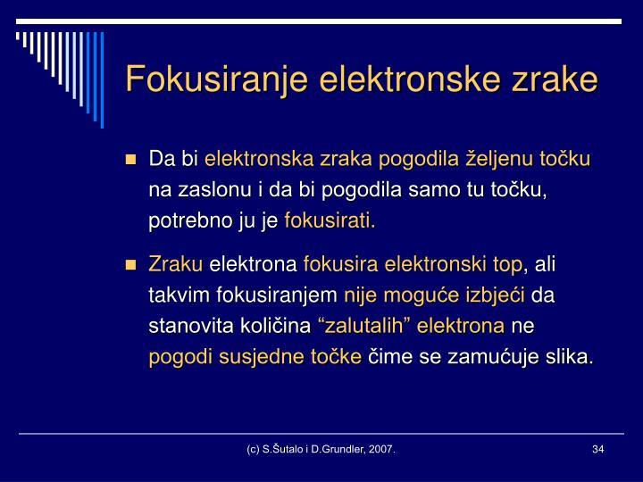 Fokusiranje elektronske zrake