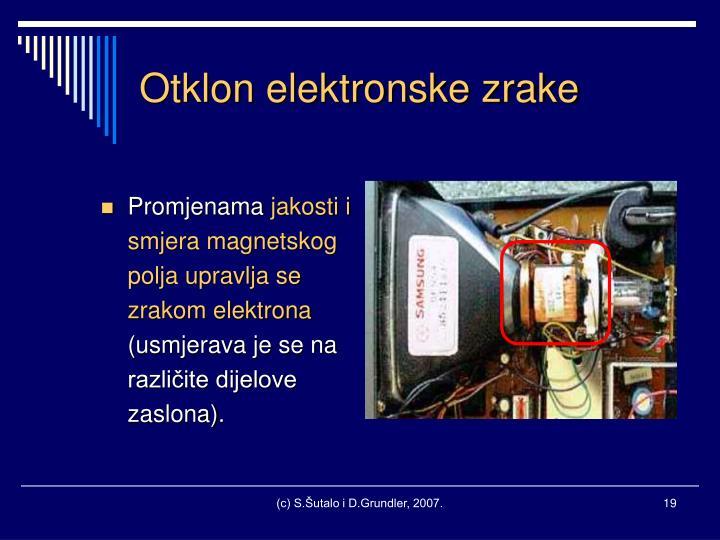 Otklon elektronske zrake