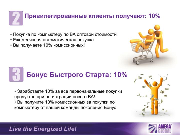Привилегированные клиенты получают: 10%