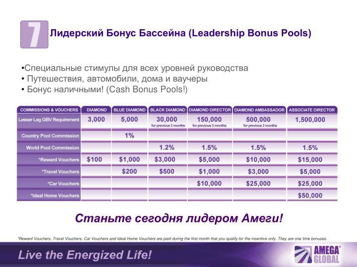 Лидерский Бонус Бассейна (