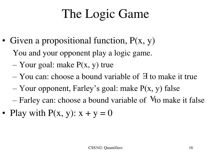 The Logic Game